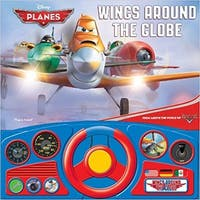 Disney Planes Wings Around the Globe Steering Wheel Book Planes Play-a-Sound