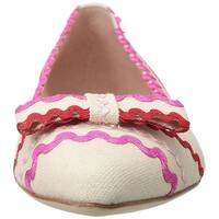 Kate Spade New York Womens Noreen Fabric Pointed Toe Ballet Flats