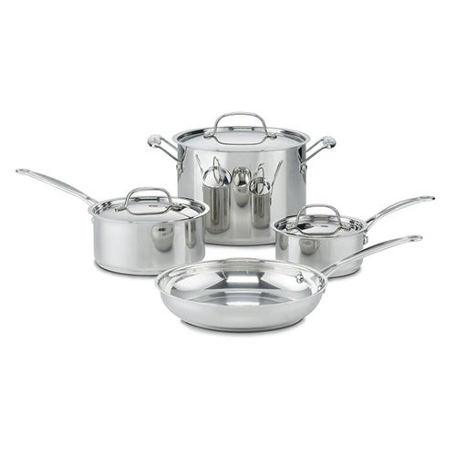 Cusinart 77-7 Chefs Classic Ss 7 Pc Set Cookware Set