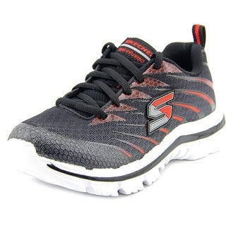 Skechers Nitrate Lace-Up Youth Round Toe Synthetic Sneakers