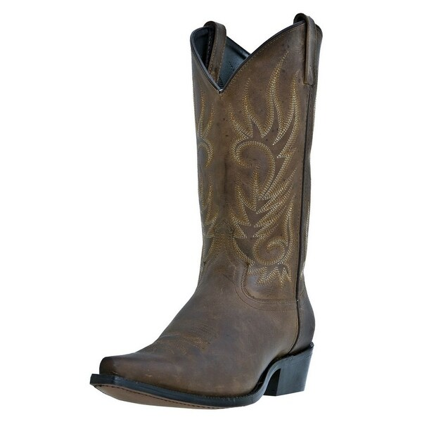 Laredo Western Boots Mens Willow Creek Cowboy Tan Crazy Horse