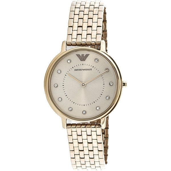 ac86a7e388 Emporio Armani Women's Gold Stainless-Steel Fashion Watch