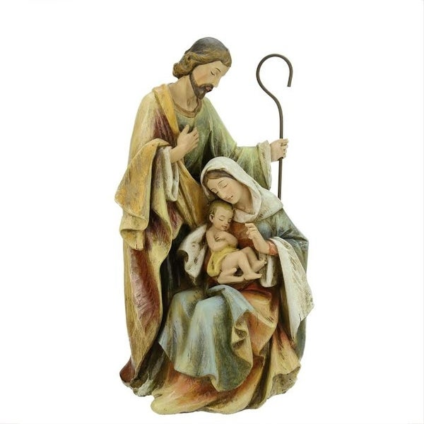 "15"" Neutral Colors Religious Holy Family Christmas Nativity Figure - multi"