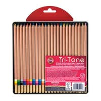 Koh-I-Noor Tri-Tone Pencil Set, Multi-Color, Set of 24
