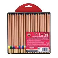 Koh-I-Noor Tri-Tone Pencils, Multi-Color, Set of 24