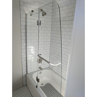 DreamLine Aqua 48 Inch Frameless Hinged Tub Door   Free Shipping Today    Overstock.com   11548973