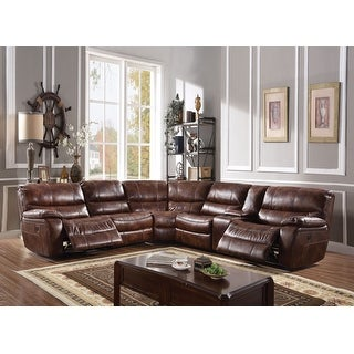 Link to ACME Brax Power Motion 2-tone Brown Leather Gel Sectional Sofa Similar Items in Living Room Furniture