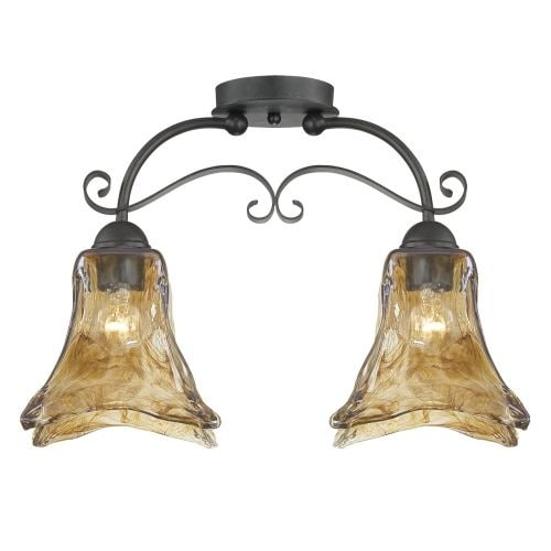 Millennium Lighting 7122 Chatsworth 2 Light Semi-Flush Ceiling Fixture