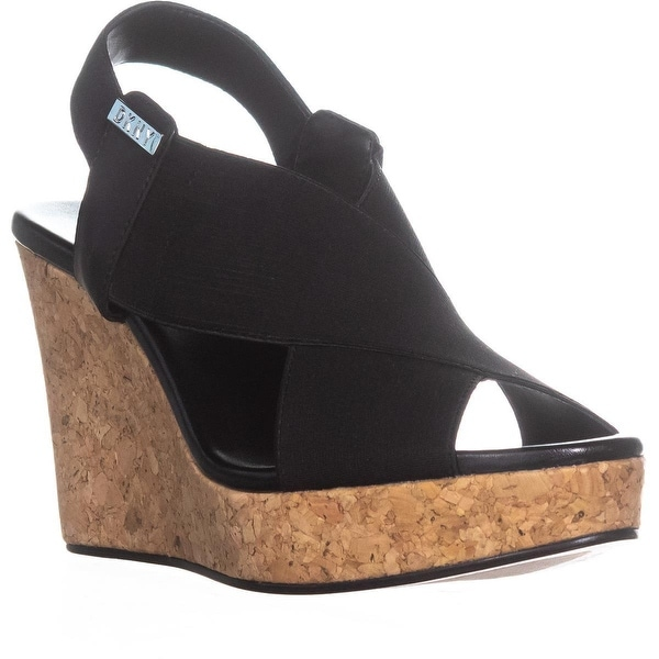 0e362c57ce5 Shop DKNY Jamara Criss Cross Wedge Sandals