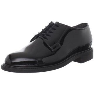 Bates Mens Leather High Gloss Derby Shoes