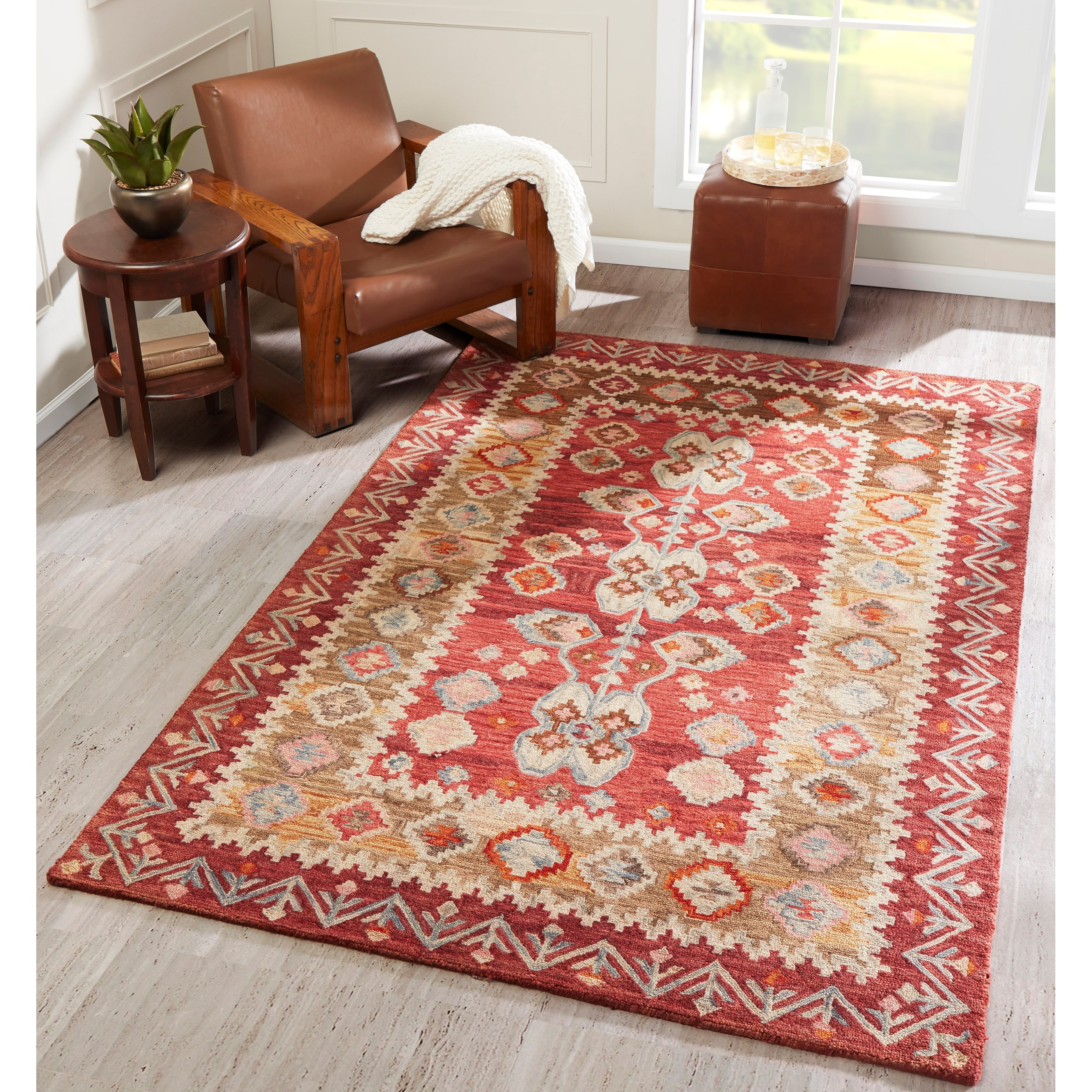 Momeni Tangier Hand Tufted Wool Traditional Area Rug Overstock 10002367