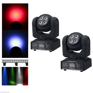 2x RGBW LED Moving Double Head Light Wash DJ Bar Stage Party Lighting DMX 21CH