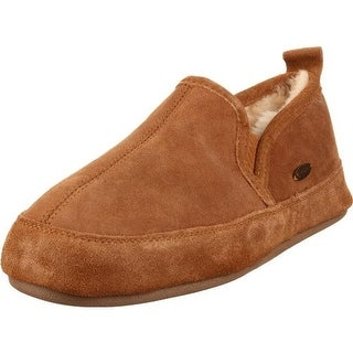 Acorn Mens Romeo II Moccasin Slippers Suede Fur Lined