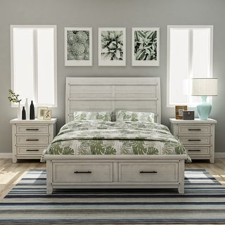 Link to Furniture of America Tiwo White 3-piece Bedroom Set with 2 Nightstands Similar Items in Bedroom Furniture