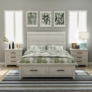 Furniture Of America Furniture Of America Tiwo White 3 Piece Bedroom Set With 2 Nightstands California King From Overstock Com Daily Mail