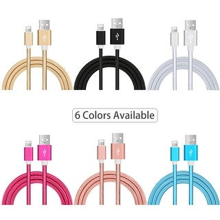 iPhone Cables, 4Pack 3FT 6FT 6FT 10FT Nylon Braided Lightning to USB-6 Colors To Pick From