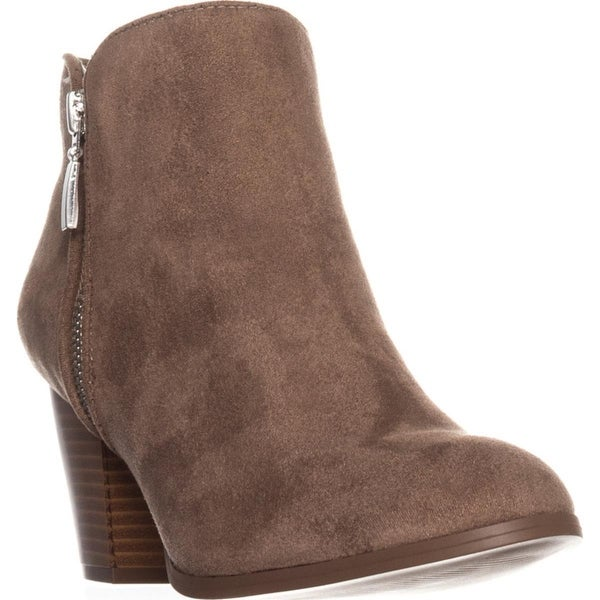 SC35 Jamila Dress Ankle Booties, Taupe