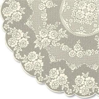 Heritage Lace VR-7200E 72 in. Victorian Rose Tablecloth, Ecru