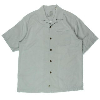 Tommy Bahama Mens Bird It Through The Grapevine Silk Button-Down Shirt