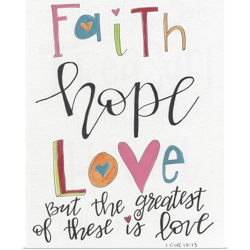 "Shop ""Faith, Hope, Love"" Poster Print - On Sale - Overstock - 23573500"
