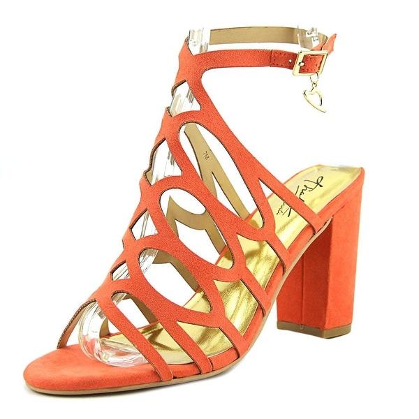 Thalia Sodi Kiarah Women Open Toe Synthetic Orange Sandals