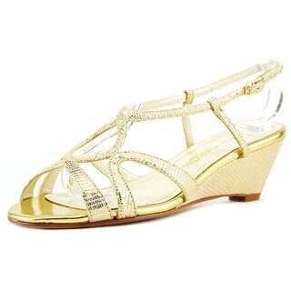 Caparros Lisette Open Toe Synthetic Wedge Sandal