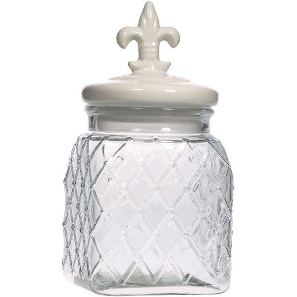Palais Glassware Preserving Glass Canister Food Jar with Ceramic Lid Handle
