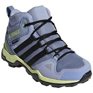 adidas Children's Terrex AX 2.0 R Mid Climaproof Hiking Shoe Chalk Blue/Black/Semi Frozen Yellow