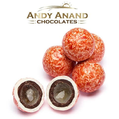 Andy Anand Strawberry Creme Cordials Delicious Gift Boxed