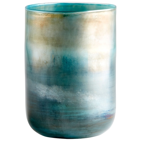 "Cyan Design 10011 Reina 6-1/4"" Diameter Glass Vase - Pyrite"