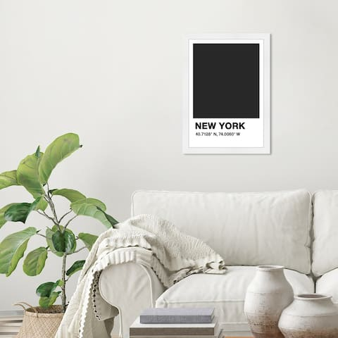 Wynwood Studio 'New York Color Swatch' Cities and Skylines Black Wall Art Framed Print