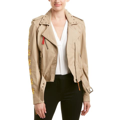 Nicole Miller Artelier Leather Jacket