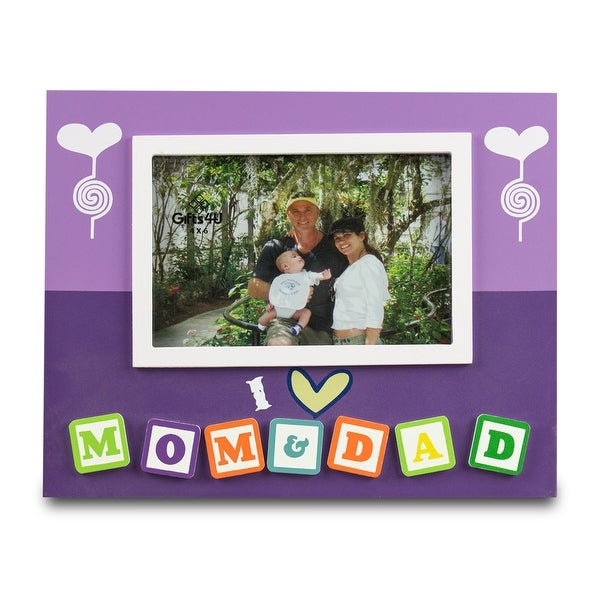 I Love Mom and Dad 4x6 Picture Frame