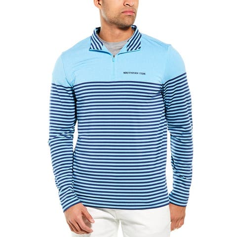 Southern Tide Front Street Stripe Performance 1/4-Zip Pullover