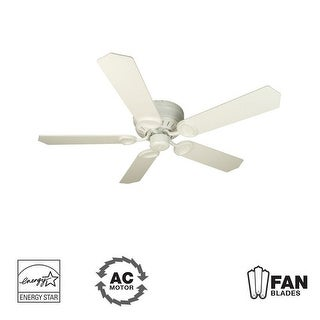 "Craftmade K10198 Universal Hugger 52"" 5 Blade Energy Star Flush Mount Indoor Ceiling Fan - Blades Included"