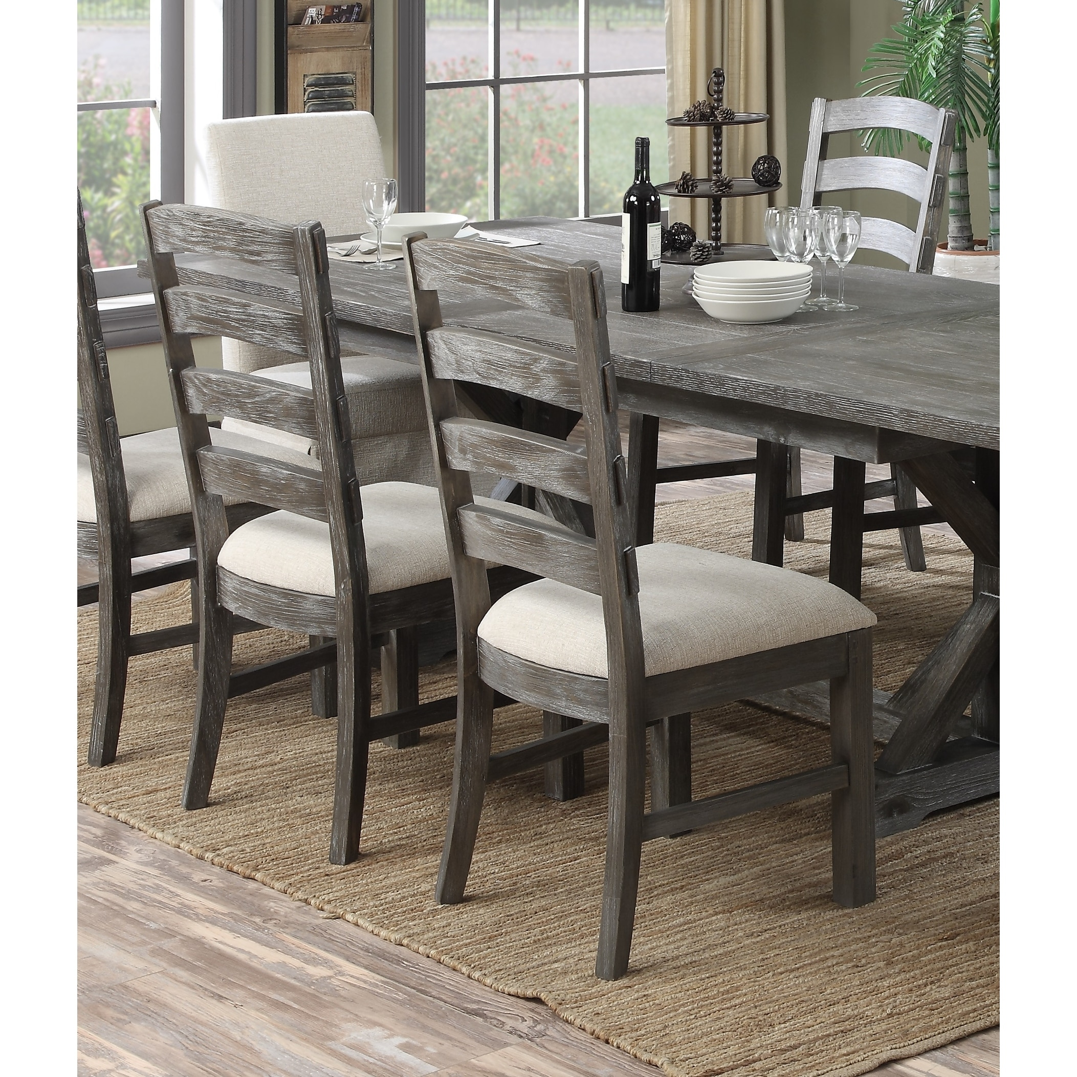 The Gray Barn Snowshill Rustic Charcoal Grey Dining Chair Set Of 2 On Sale Overstock 18047846