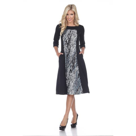 Constance Midi Dress - Grey Snake