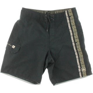 Quiksilver Mens Mesh Inset Embroidered Board Shorts - S