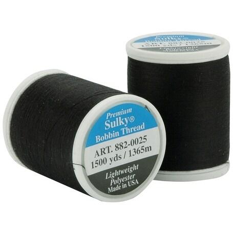 Sulky Bobbin Thread 60wt 1,100yd-Black - Black