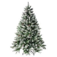 6' Flocked Angel Pine Artificial Christmas Tree - Unlit - green
