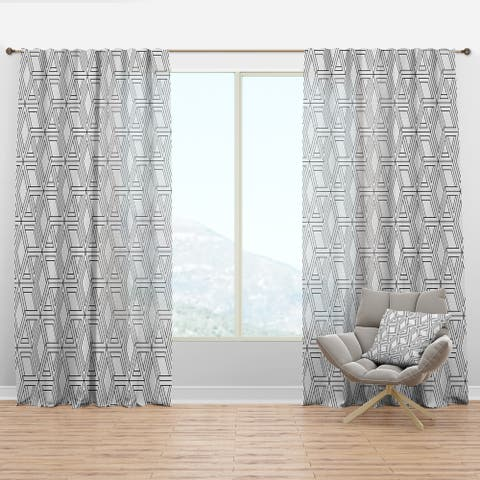 Designart 'Geometric Pattern in Op Art Design' Scandinavian Curtain Panel