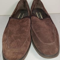 Women's Hush Puppies brown loafers size 10 M suede leather