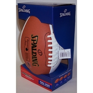 Spalding 3 White, 1 Brown Panel Full Size Autograph Model Football