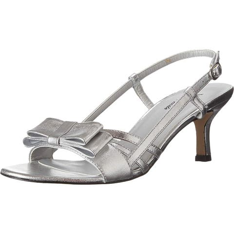 Vaneli Womens MARTEY 150391 Open Toe Special Occasion Slingback Sandals