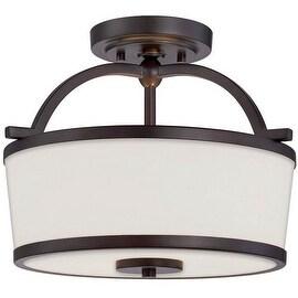 "Savoy House 6-4382-2 Hagen 2 Light 13"" Wide Semi-Flush Ceiling Fixture"