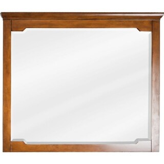 Jeffrey Alexander MIR090-D 34 x 40 Inch Framed Rectangular Vanity Mirror with Beveled Glass from the Chatham Shaker Collection