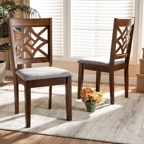 Nicolette Modern and Contemporary Transitional 2-PC Dining Chair Set