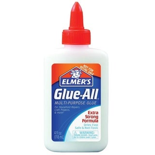 Elmer's Glue-All Multi-Purpose Non-Toxic Glue, 4 oz Squeeze Bottle, White and Dries Clear