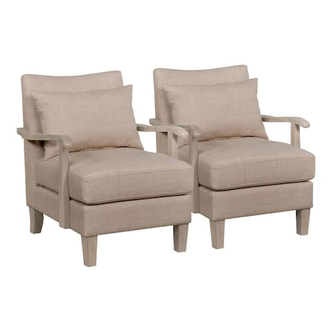 Furniture of America Cova Contemporary Beige Accent Chair (Set of 2)
