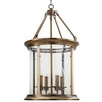 "Park Harbor PHPL5664 14"" Wide 4 Light Foyer Pendant with Lantern Style Shade"